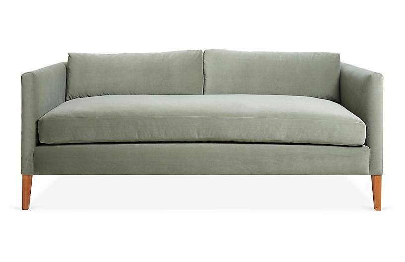 Albee Sofa, Sage Velvet