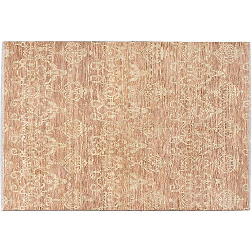 "6'x8'10"" Finest Oushak Rug, Brown"