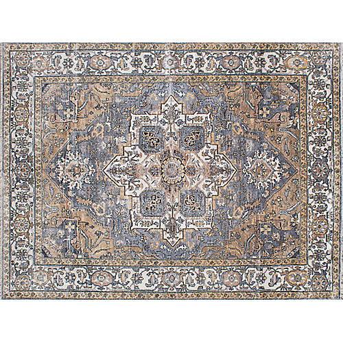 "8'10""x11'10"" Sterling Hand-Knotted Rug, Gray"
