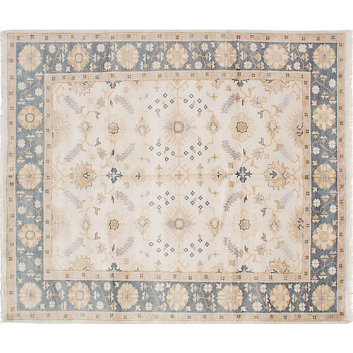 "8'5""x9'11"" Royal Oushak Rug, Cream"