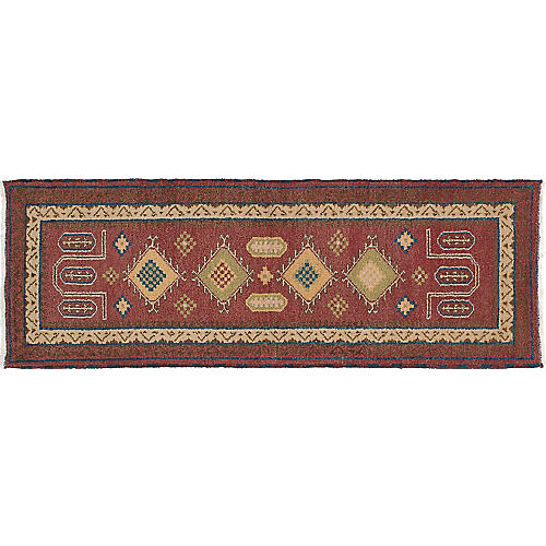"2'10""x8'4"" Royal Kazak Rug, Oxblood"
