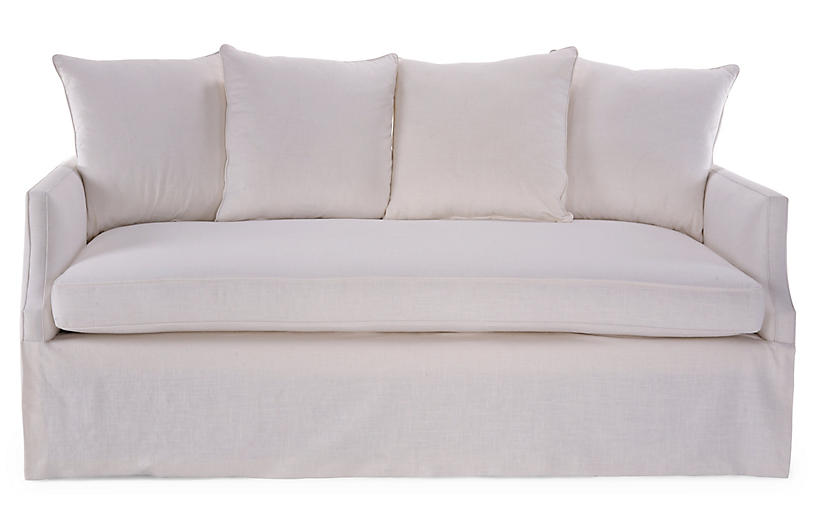 Dumont Trundle Bed, Ivory Linen