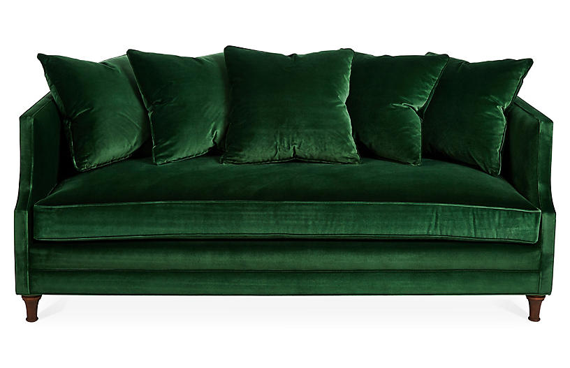Dumont Sofa, Emerald Velvet