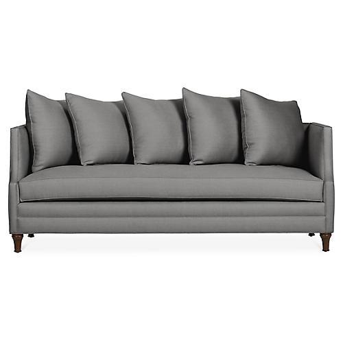 Dumont Sofa, Charcoal Linen