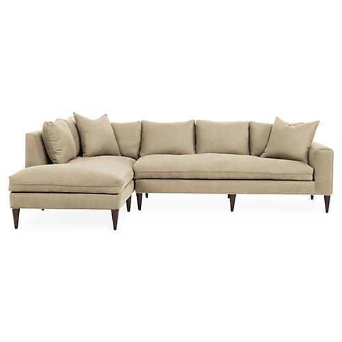 Upton Left-Facing Sectional, Dune Linen