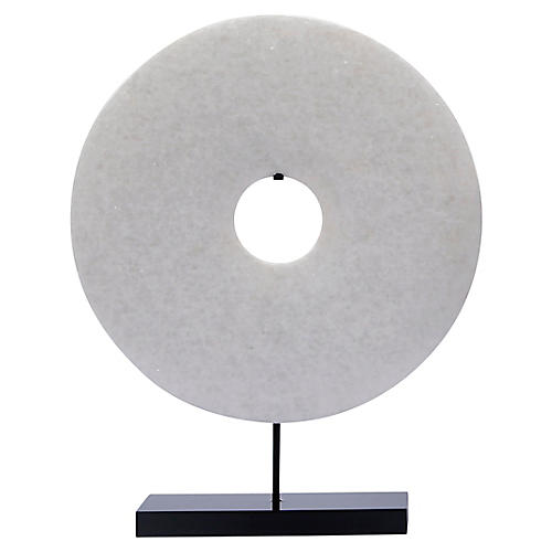 Disk Statue, White