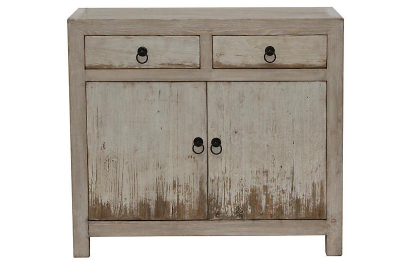 Marcella Cabinet, Natural White