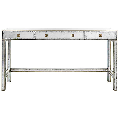 Madolyn Console, Silver/Gold