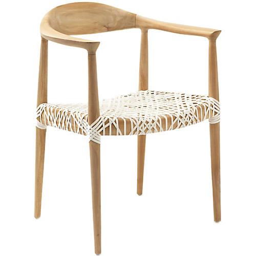 Francesca Armchair, Natural/White