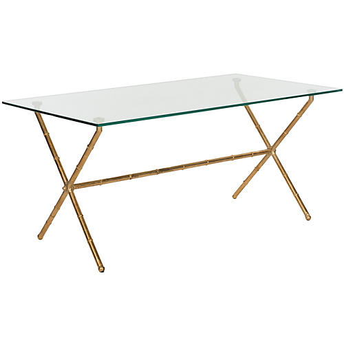 Pratt Coffee Table, Gold