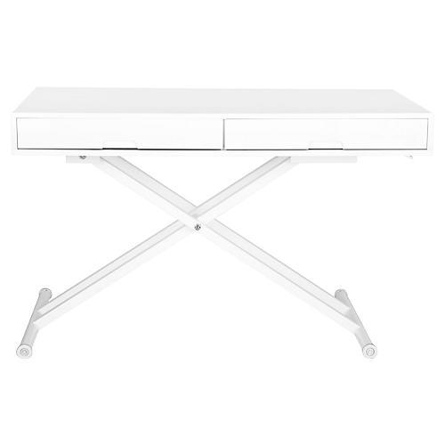 Liska Adjustable Desk, White