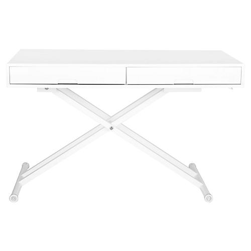 Liska Adjustable Desk, White