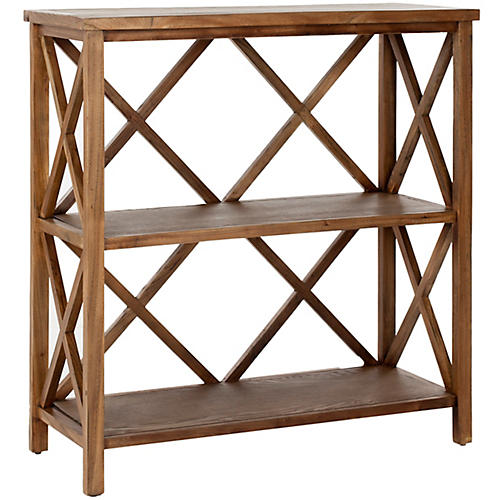 Hadley Open Bookcase, Wood