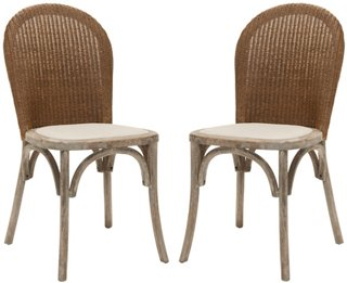 S/2 Beau Side Chairs, Beige Linen