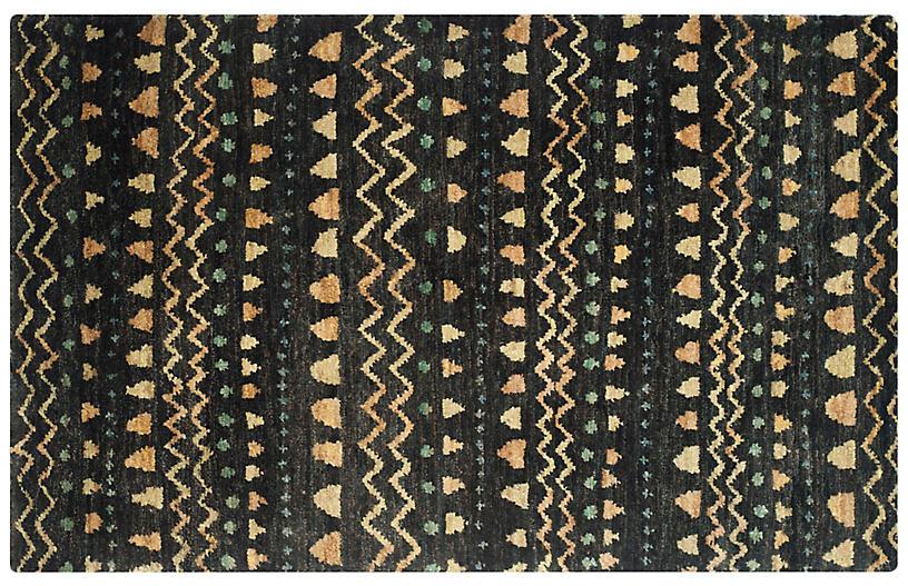 Ongo Kids' Rug, Black/Gold