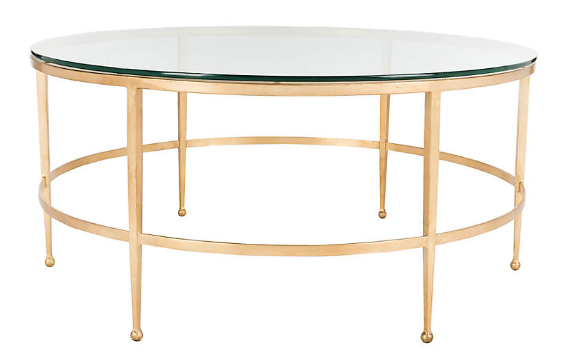 Evelyn Coffee Table, Gold