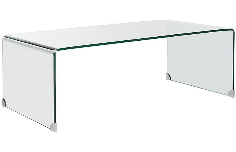 Wheelan Coffee Table, Clear