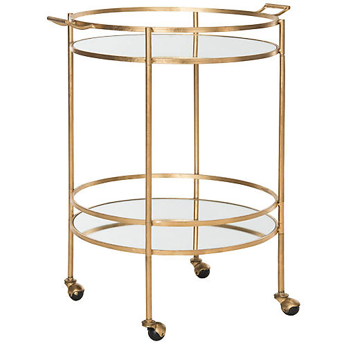 Larisa Bar Cart, Gold