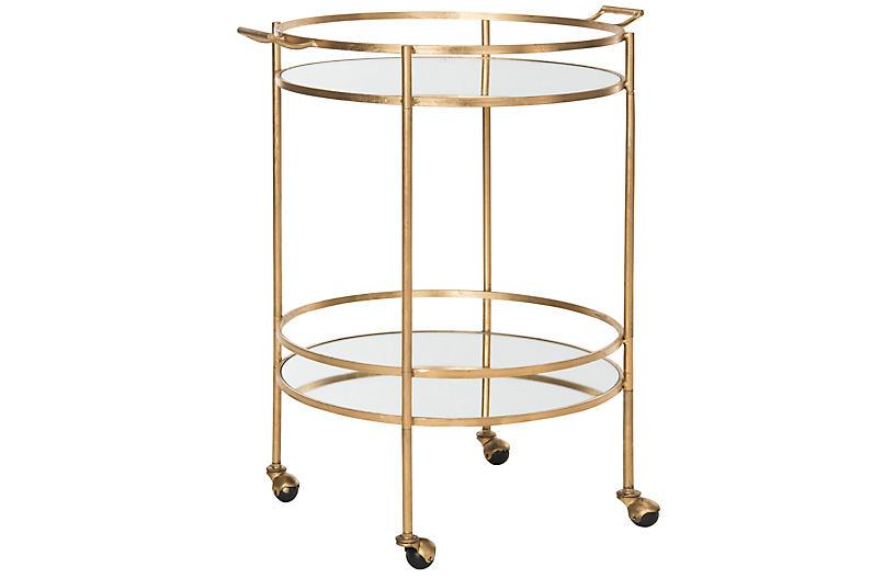 Larisa Bar Cart, Gold