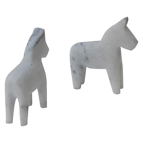 Littlehorse Bookends, White