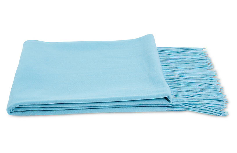 Cashmere-Blend Throw, Tiffany