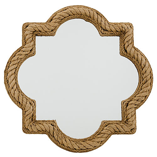 Price Wall Mirror, Natural Rope