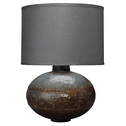 Caisson Table Lamp, Gunmetal
