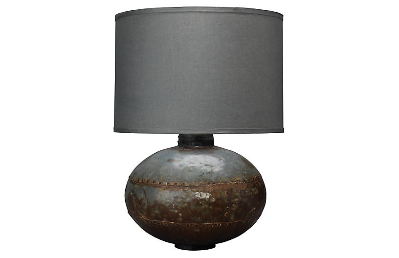 Caisson Table Lamp, Gunmetal