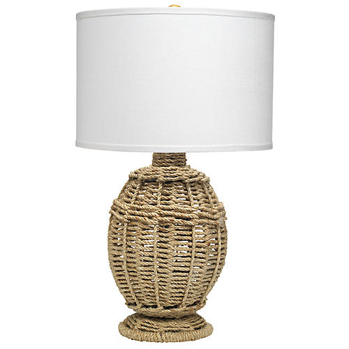 Jute Urn Table Lamp, Natural