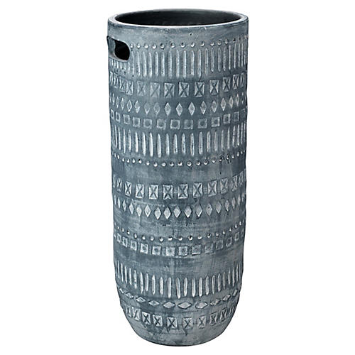 Zion Vase, Gray/White