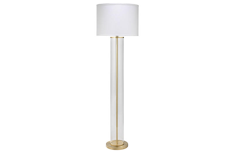 Vanderbilt Floor Lamp, Brass