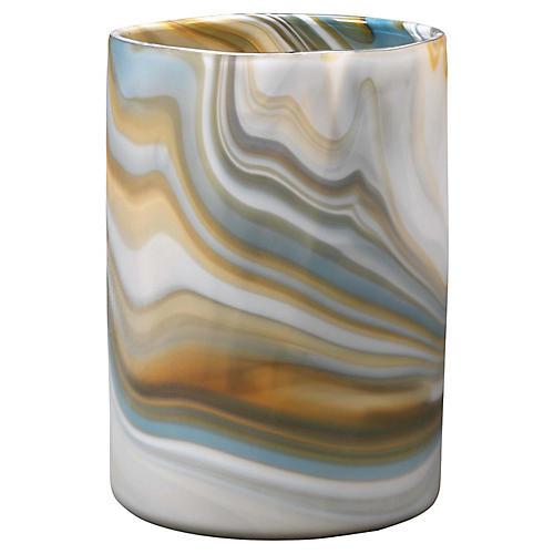 """11"""" Terrene Vase, Gray/Amber"""