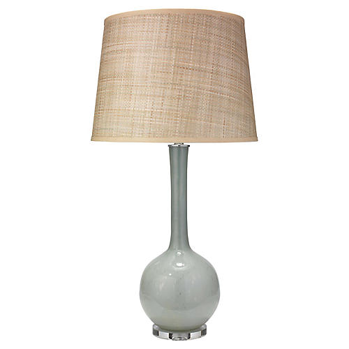 Florence Table Lamp, Pale Blue