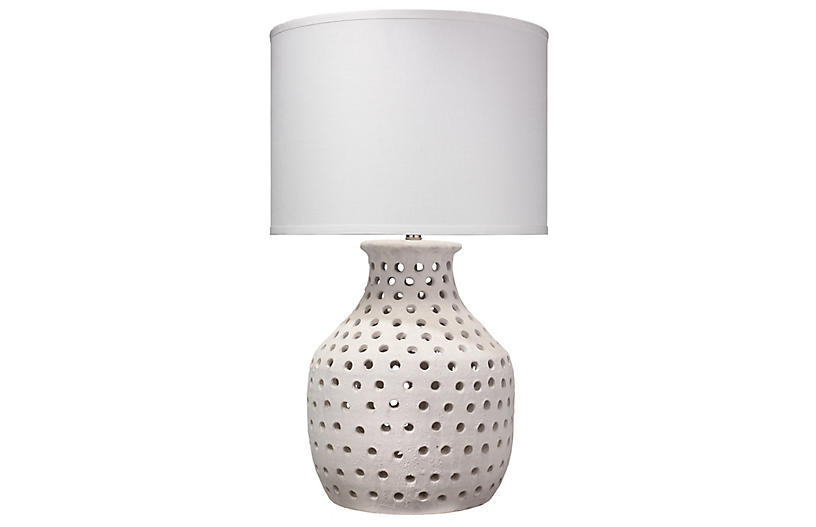Porous Table Lamp, Matte White