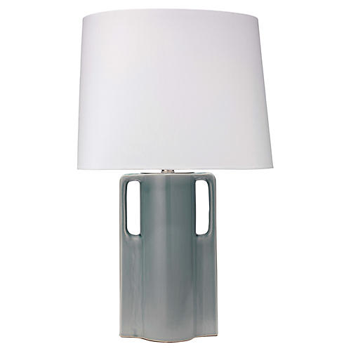 Woodstock Table Lamp, Mist Blue