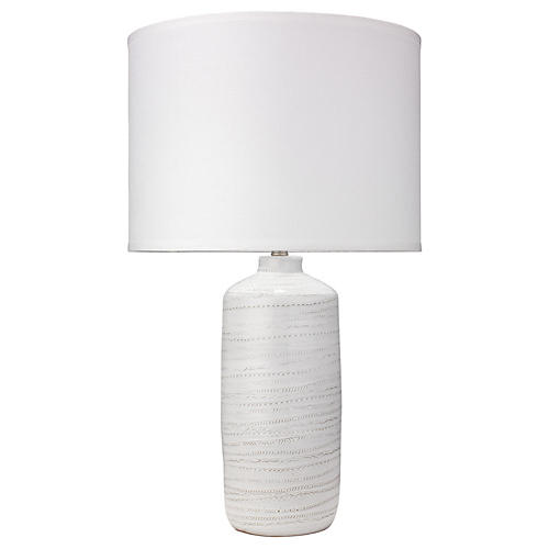 Trace Table Lamp, White