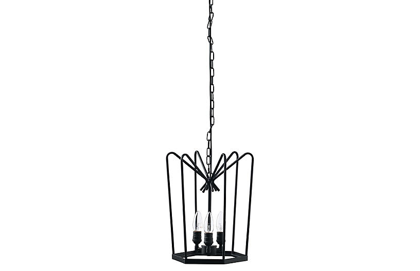 Hirondelle Chandelier - Blackened Iron - Jamie Young