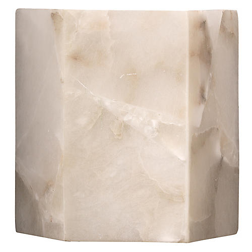 Borealis Hexagon Sconce, White