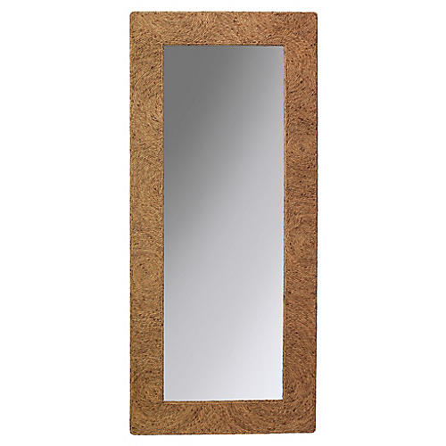 Harbor Floor Mirror, Natural Sea Grass