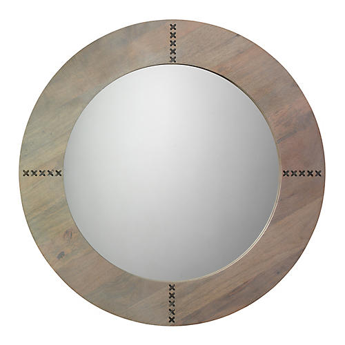 Owen Wall Mirror, Graywash/Silver