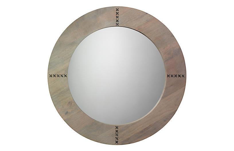 Owen Wall Mirror, Graywash/Silver