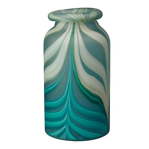 """17"""" Esmerelda Vase, Aqua"""