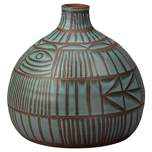 "12"" Ritual Vase, Powder Blue"
