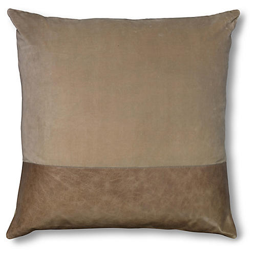 Aria 24x24 Pillow, Taupe