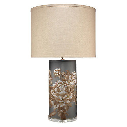 Blossom Table Lamp, Matte Gray