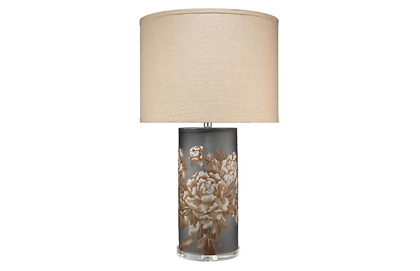 Blossom Table Lamp, Matte Gray