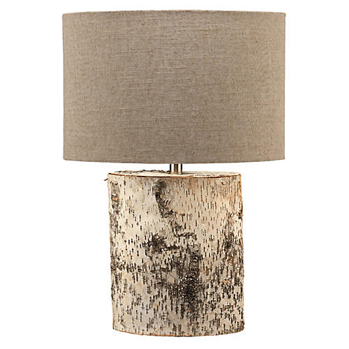 Forrester Table Lamp, Birch