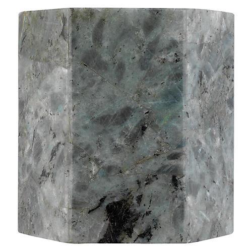 Borealis Hexagon Sconce, Gray