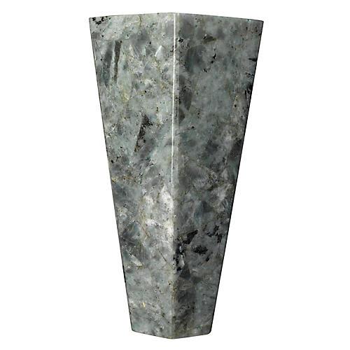Borealis Tall Hexagon Sconce, Gray