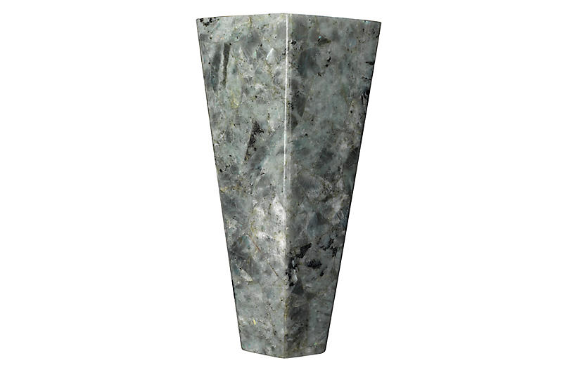 Borealis Tall Hexagon Sconce, Gray